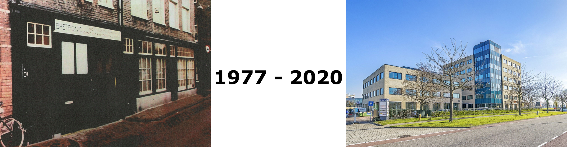 Betronic lokatie 1977 en 2020